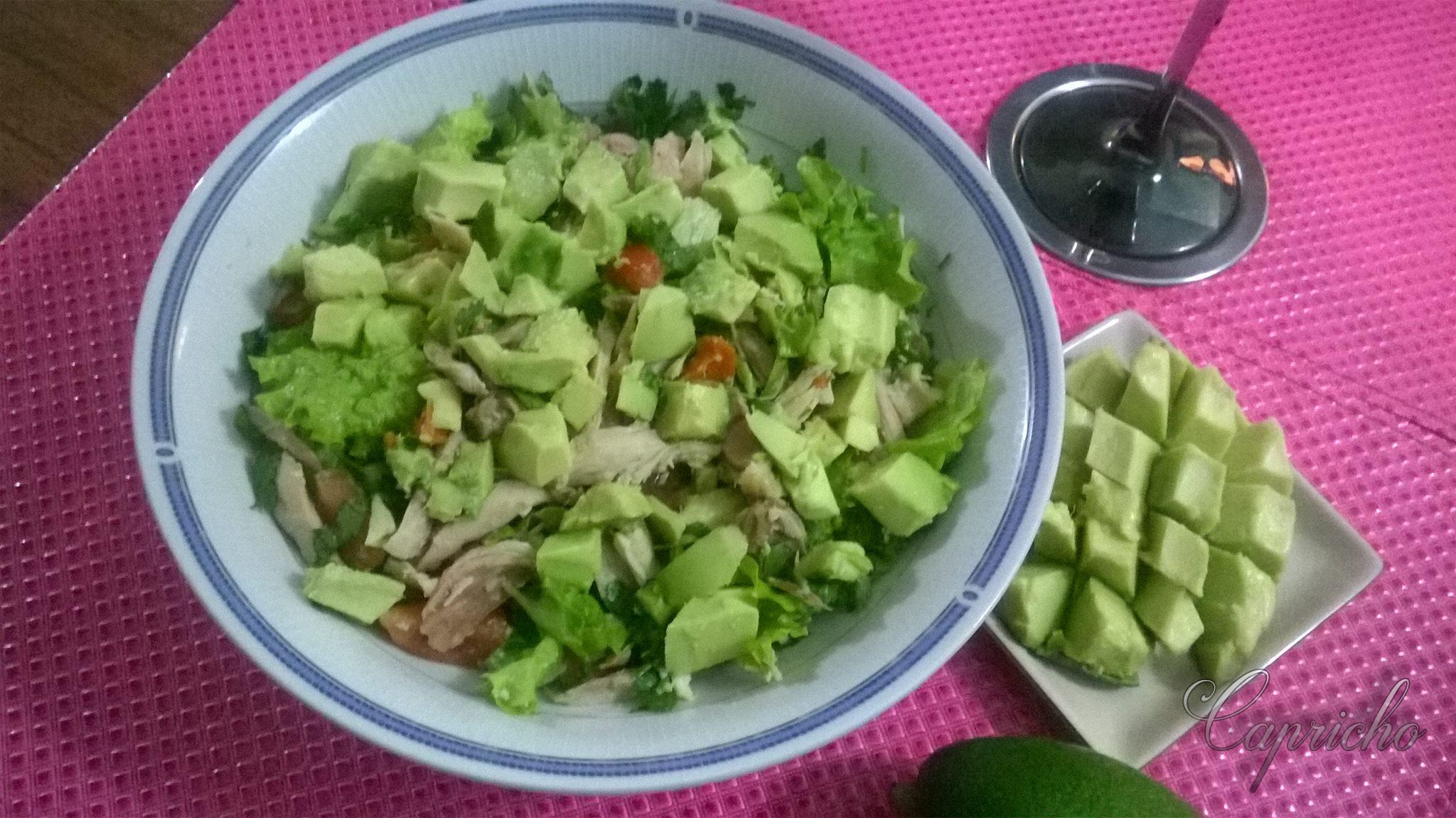 Salada com abacate